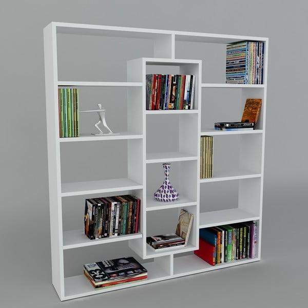 Biblioteczka Ample White, 22x125x135,7 cm