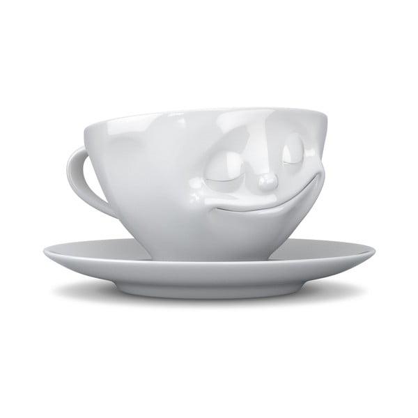 Biała szczęśliwa filiżanka 58products, 200 ml