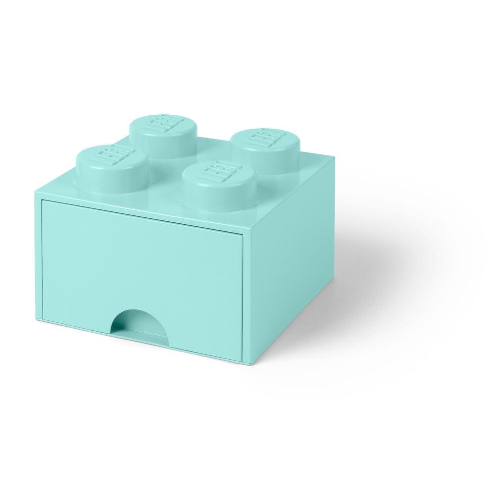 Miętowy kwadratowy pojemnik LEGO®