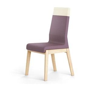 Ciemnofioletowe krzesło dębowe Absynth Kyla Two
