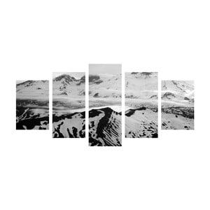 Wieloczęściowy obraz Black&White Hills, 100x50 cm