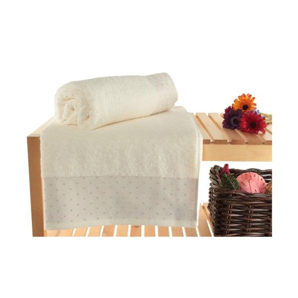 Zestaw 2 kremowych ręczników Patricik, 90x150 cm