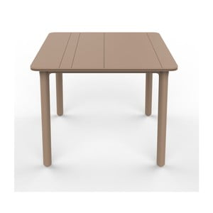 Beżowy stół ogrodowy Resol NOA, 90x90cm