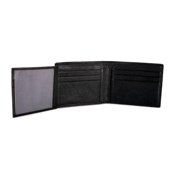 Skórzany portfel Lois Black, 11x8,5 cm