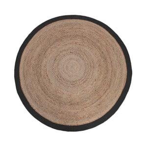 Dywan z juty z czarną obwódką LABEL51 Rug, Ø 180 cm