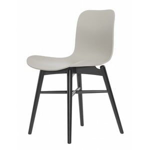Szare krzesło bukowe do jadalni NORR11 Langue Stained
