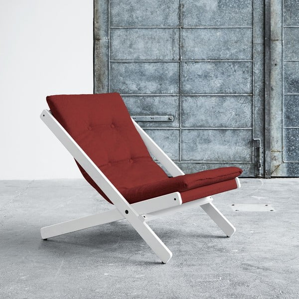 Fotel składany Karup Boogie White/Passion Red