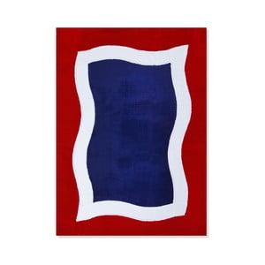 Dywan dziecięcy Mavis Blue and Red Water, 100x150 cm