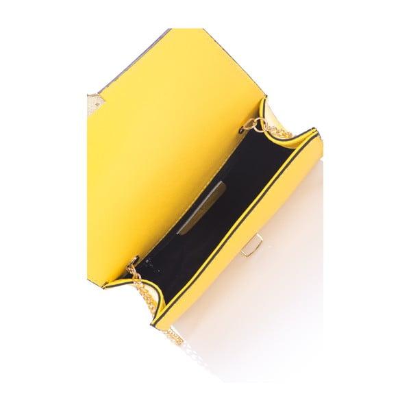 Torebka skórzana Anys, żółta