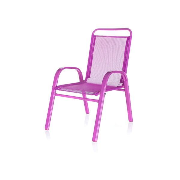 Dziecięce krzesło ogrodowe Kids, różowe