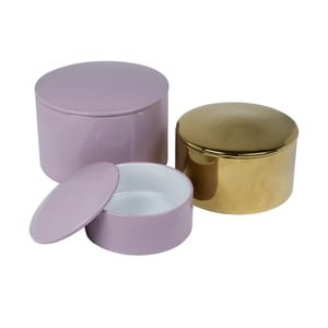 Zestaw 3 ceramicznych pojemników Tri-Coastal Design Charming Garden