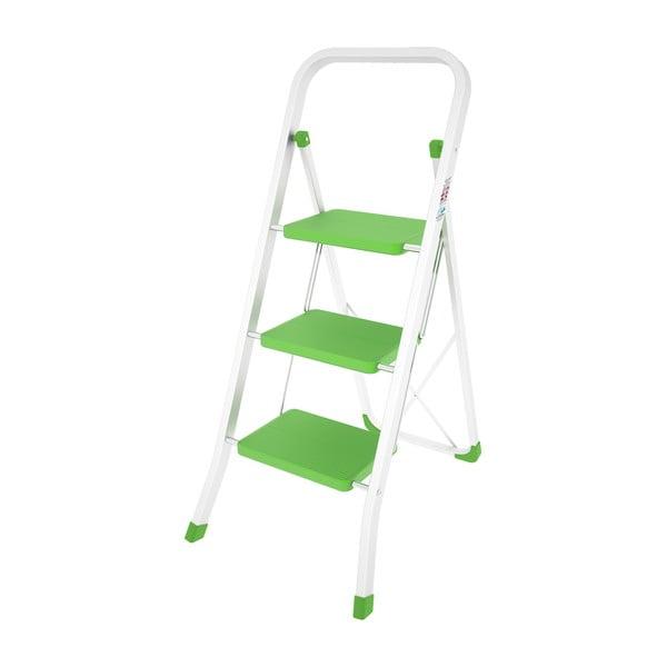 Zielona drabinka składana Colombo New Scal Stabilo III
