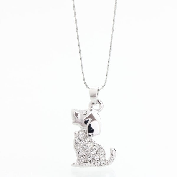 Naszyjnik z kryształami Swarovski Elements Laura Bruni Puppy
