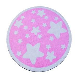 Różowy dywan dziecięcy Zala Living Star, ⌀100cm