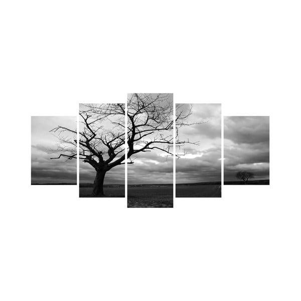 Wieloczęściowy obraz Black&White no. 37, 100x50 cm