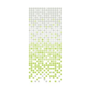 Zasłona prysznicowa White&Green Dotted