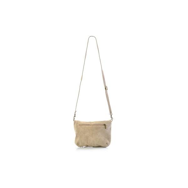 Skórzana torebka Juliette, beżowa