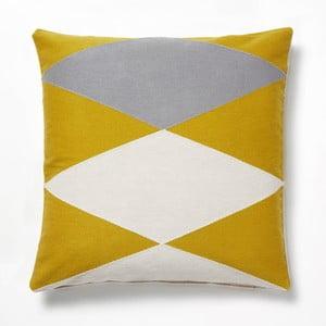 Żółto-szara poduszka La Forma Vang, 45x45 cm