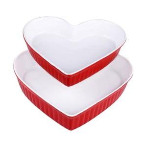 Zestaw 2 forem Heart Red