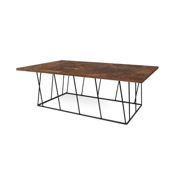 Brązowy stolik z czarnymi nogami TemaHome Helix, 120 cm