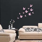 Naklejki motyle 3D WALPLUS 3D Butterflies Pink