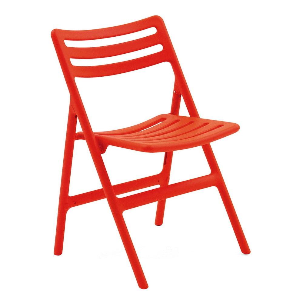 Pomarańczowe składane krzesło Magis Air