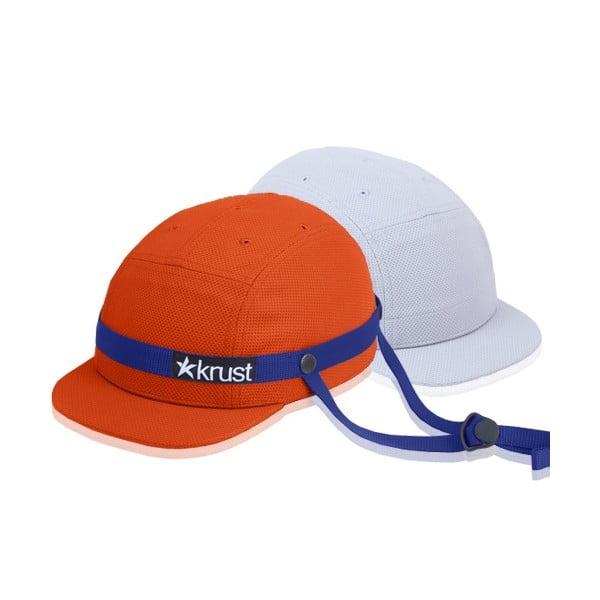 Kask rowerowy Krust orange/blue/grey z zapasową czapką, rozmiar M/L