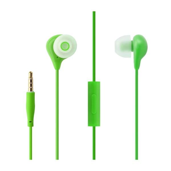 Słuchawki dokanałowe z mikrofonem FIXED EGG1, zielone