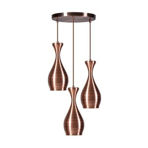 Potrójna lampa wisząca w kolorze miedzi ETH Ajaccio Liam