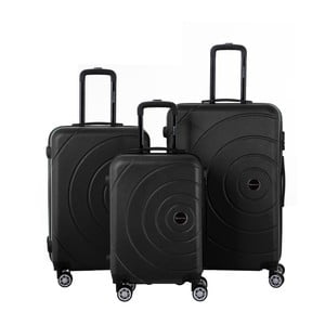 Zestaw 3 czarnych walizek Berenice Circle