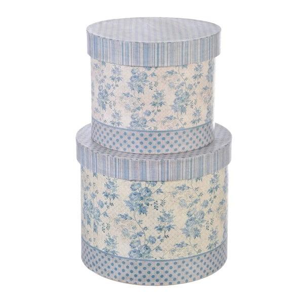 Zestaw pudełek Round Flower, 2 szt.