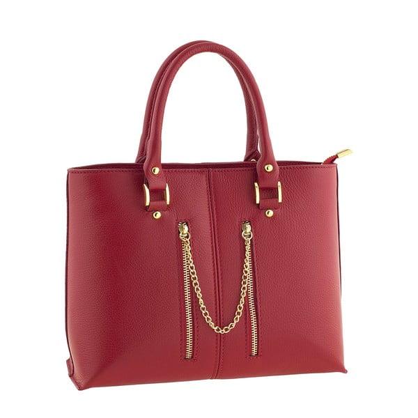 Skórzana torebka Bis Red