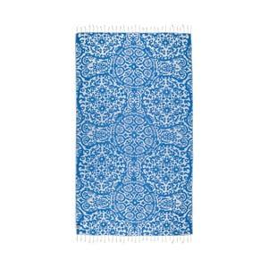 Niebieski ręcznik hammam Kate Louise Camelia, 165x100cm
