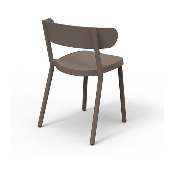 Zestaw 2 brązowych krzeseł ogrodowych Resol casino