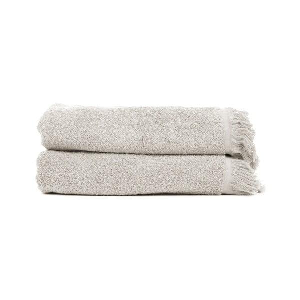 Zestaw 2 szarobrązowych ręczników kąpielowych ze 100% bawełny Bonami, 70x140 cm