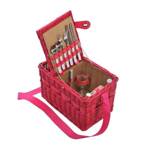 Kosz piknikowy Picnic Pink, 37x24x24 cm