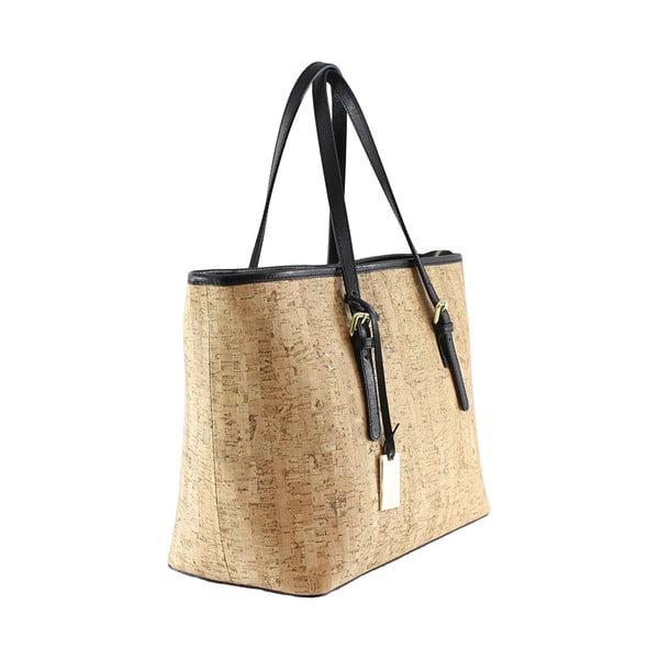 Skórzana torebka Montessa, imitująca korek