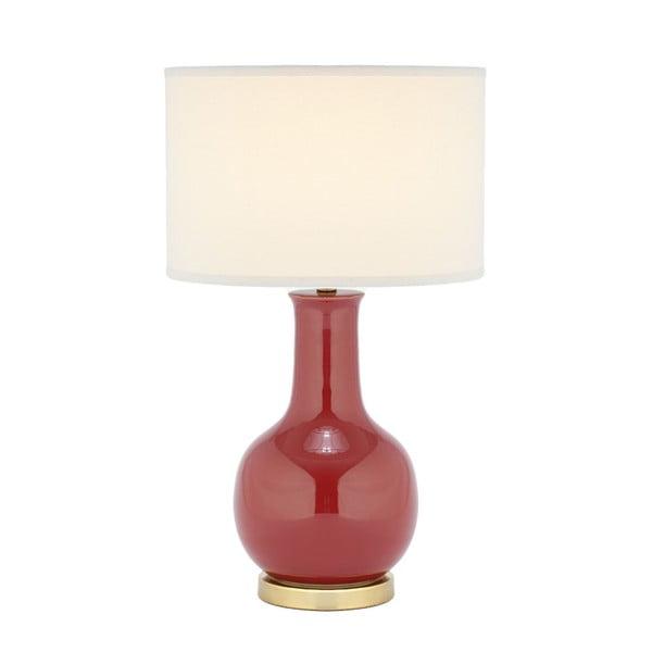 Lampa stołowa z czerwoną podstawą Safavieh Charlie
