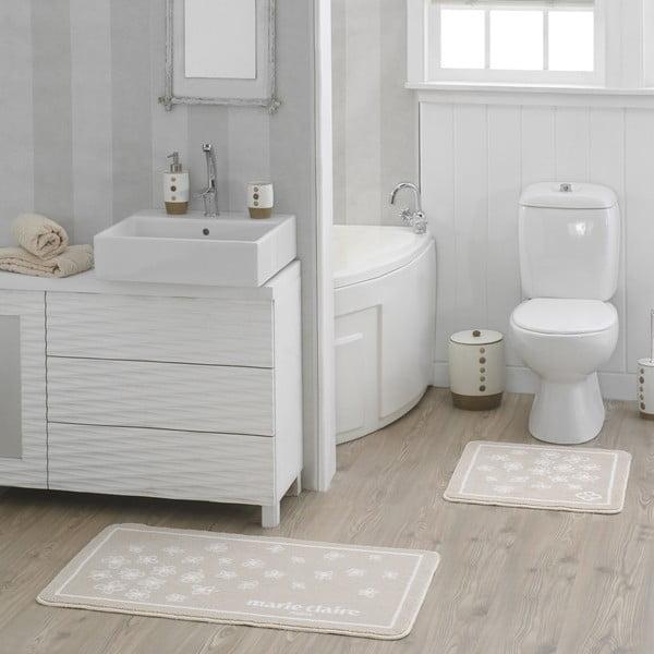 Zestaw 2 beżowych dywaników łazienkowych Breeze