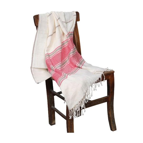 Koralowoczerwony ręcznik hammam Veronica Coral, 90x190cm