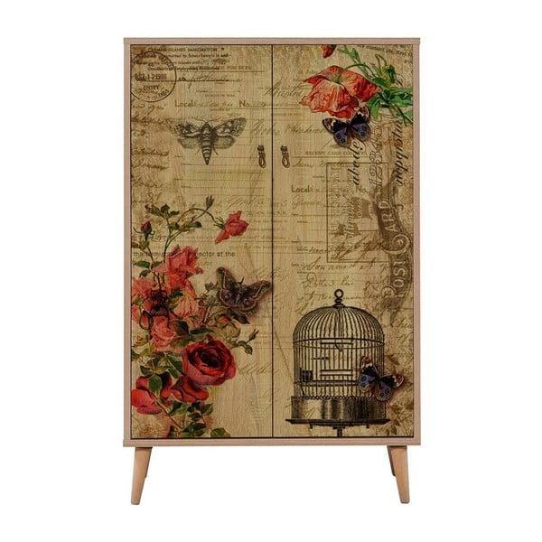 Szafa drewniana Ananias Cage, wys. 127 cm