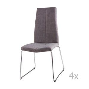 Zestaw 4 jasnoszarych krzeseł sømcasa Aora