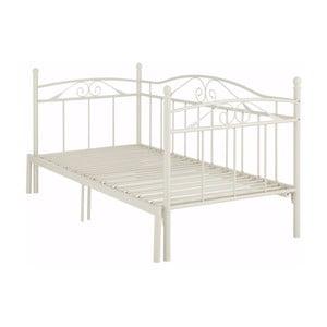 Białe łóżko rozkładane Støraa Bibi, 90x200 cm