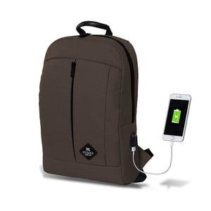 Tmavě hnědý batoh s USB portem My Valice GALAXY Smart Bag