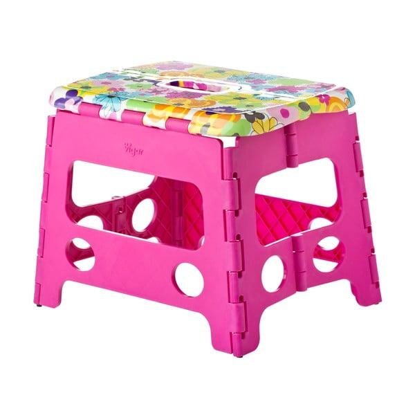 Różowy składany stołek Vigar Pink Side