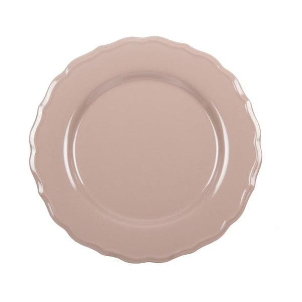 Komplet 18 talerzy ceramicznych Bologne Beige