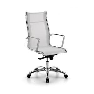 Białe krzesło biurowe na kółkach High Chrono Zago