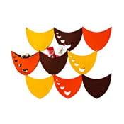 Filcowe kieszonki wiszące Księżyc, żółty/pomarańczowy/brązowy