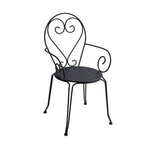 Antracytowe krzesło ogrodowe Ina