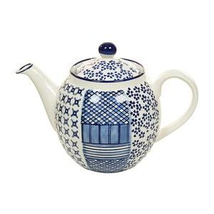 Niebiesko-biały dzbanek porcelanowy do herbaty Santiago Pons Meknec